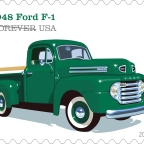 Post Office Honors Vintage Pickup Trucks